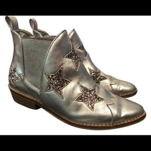 "Stella McCartney Silver and Glitter ""Lilly"" Boots"
